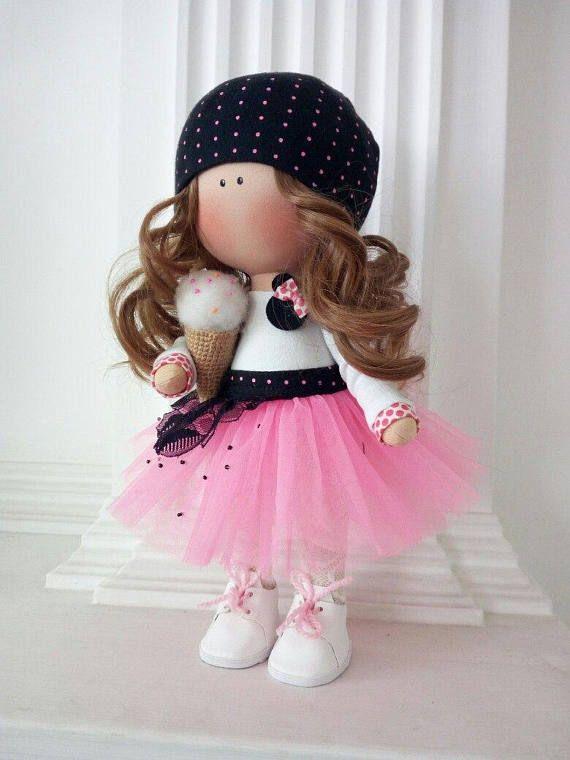 Love Winter Doll Poupée Cloth Rag Doll Pink Nursery Doll Fabric Tilda Doll Textile Soft Doll Christmas Baby Room Handmade Doll by Olga K _____________________________________________________________________________________ Hello, dear visitors! This is handmade cloth doll created