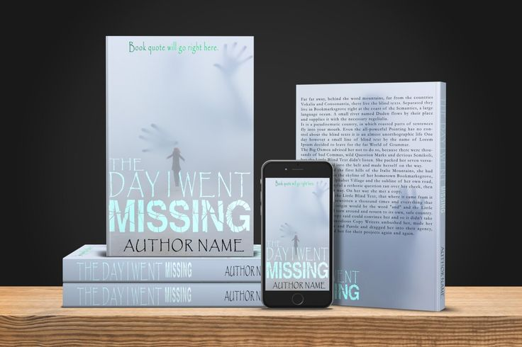 The Day I Went Missing- Print  Predesigned book cover www.dropdeaddesigns.com  #bookcovers #custombook #ilovebooks #author #indieauthor #indiewriter #iwrite