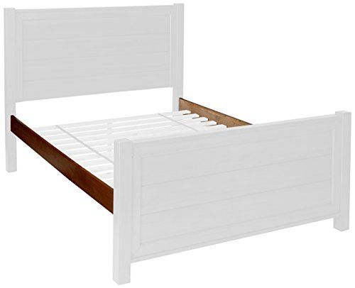 My Home Furnishings Logan Collection 5/0 Queen Hook-on Bed Rails, Driftwood |
