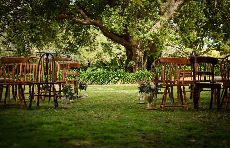 Set the mood on your Wedding Day with this fabulous selection of Eclectic Timber Chairs.  The Gorgeous Range of Vintage Hire Items are available on our web page www.alittlevintagebliss.com.au or Facebook https://www.facebook.com/A-Little-Vintage-Bliss-139728162903615/ to view all of our georgeous goodies for hire. Gold Coast, Brisbane Byron Bay and Beyond.