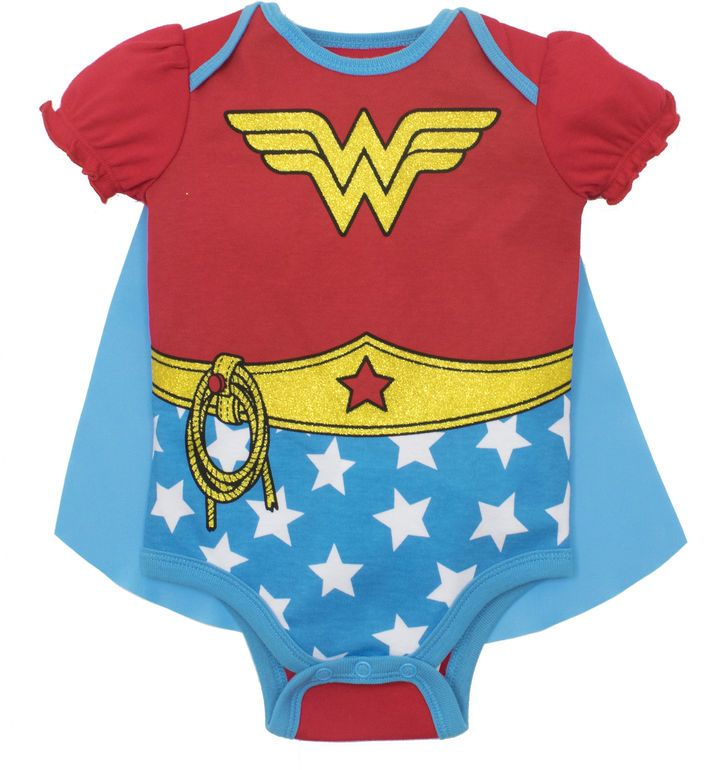 DC COMICS Caped Wonder Woman Bodysuit - Baby