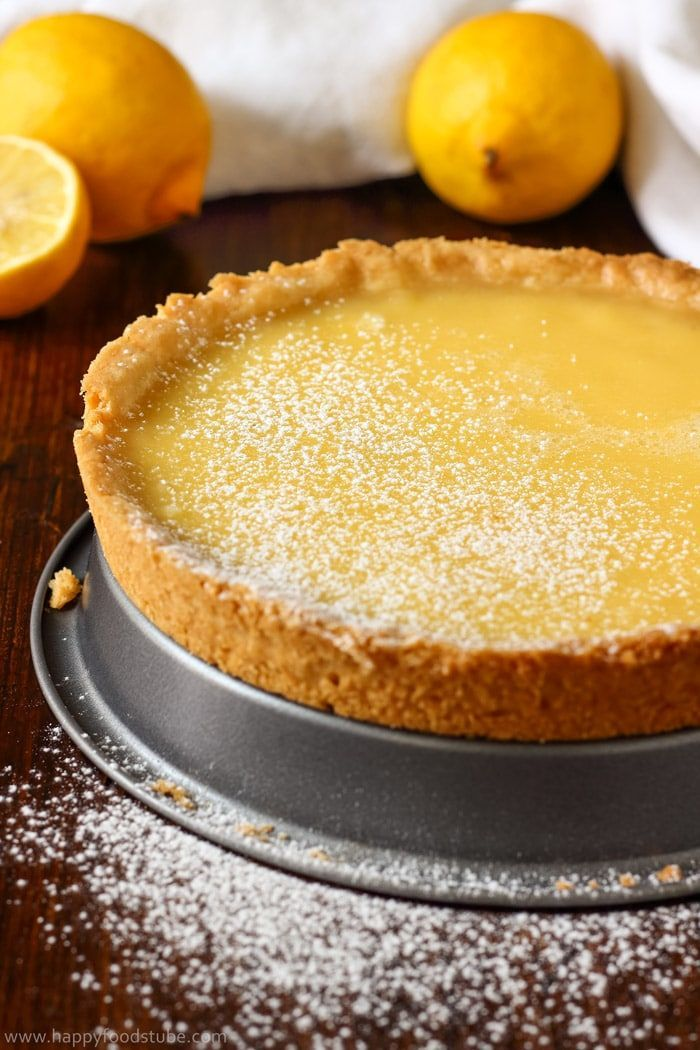 Simple Homemade Lemon Tart Recipe. Easy baking recipes for beginners. Baking from scratch.