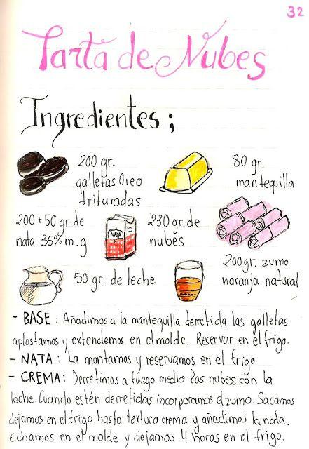 Gastro Andalusi ♥ Recetas ilustradas: Vasitos de Tarta de Nubes