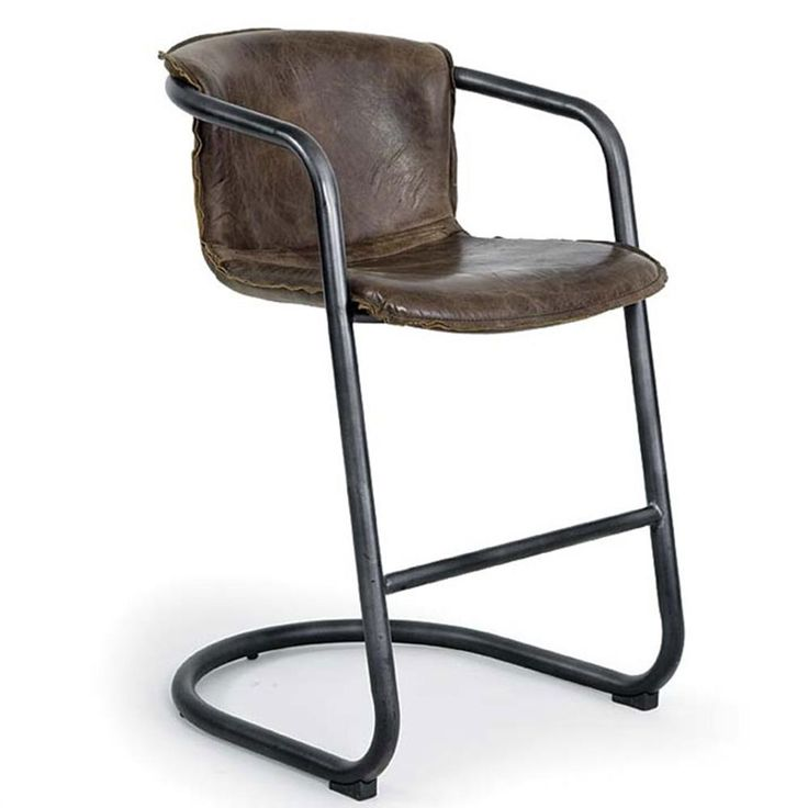 Regina Andrew Vintage Whiskey Axl Counter Stool is where vintage meets comfort! #PeaceLoveAndDecorating #vintage