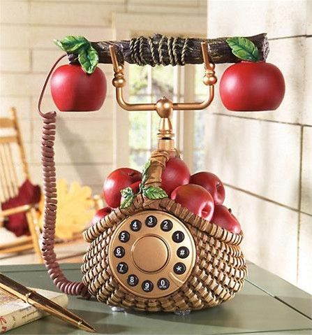 Apple Kitchen Decor...lol this isn't really my style, but the idea made me laugh