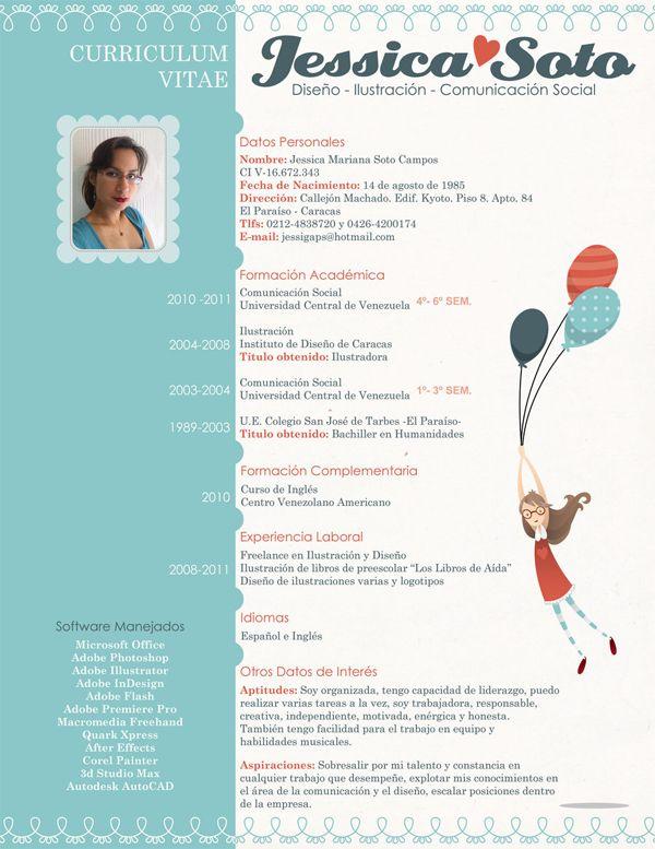 71 best Currículum Vitae images on Pinterest | Creative curriculum ...