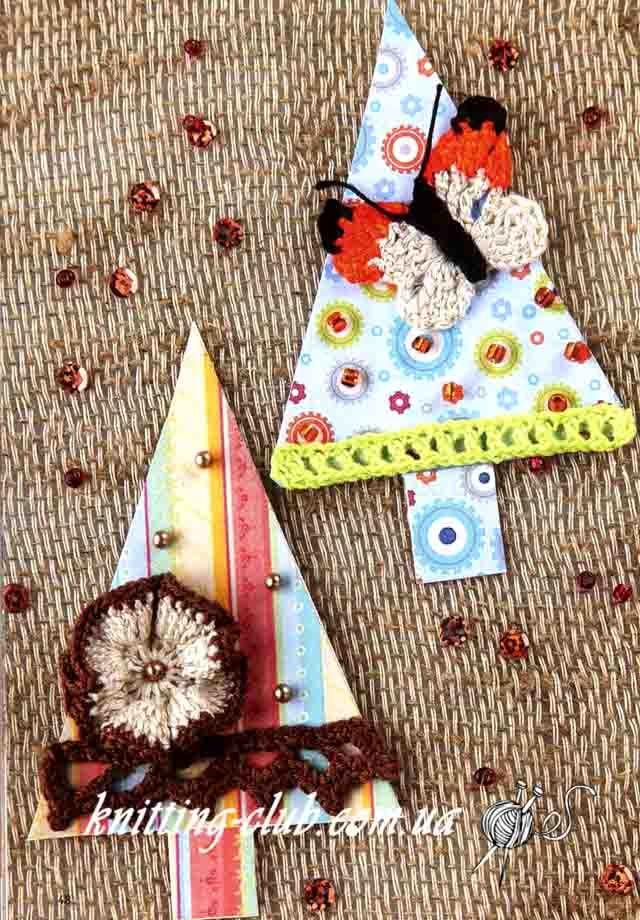сувенир елочка с бабочкой Wwwknitting Clubcomua Knitting