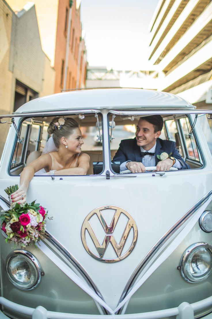 Sav+Pete - WEDDING Photo By Curly Tree Photography kombi van
