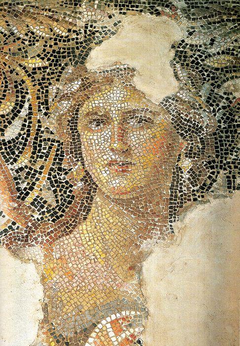 """Mona Lisa of Galilee"", 3rd ce. city of Sepphoris, Roman Palestine, Mosaic"