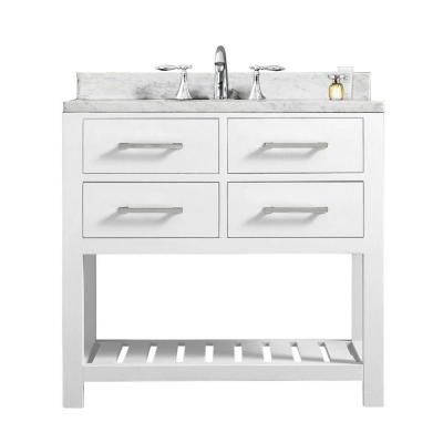 Picture Collection Website Water Creation in Vanity in Carrara White with Marble Vanity Top in Carrara White