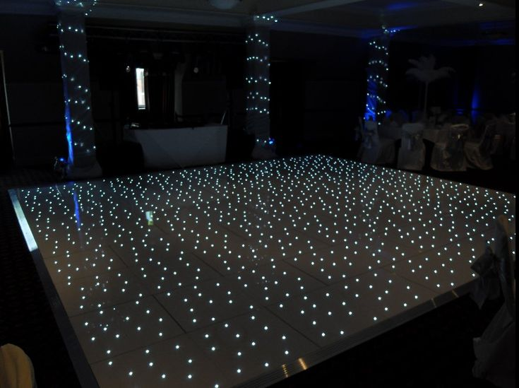 I don't know if this is too much but this is pretty awesome :: White Starlit LED Dance Floor ::