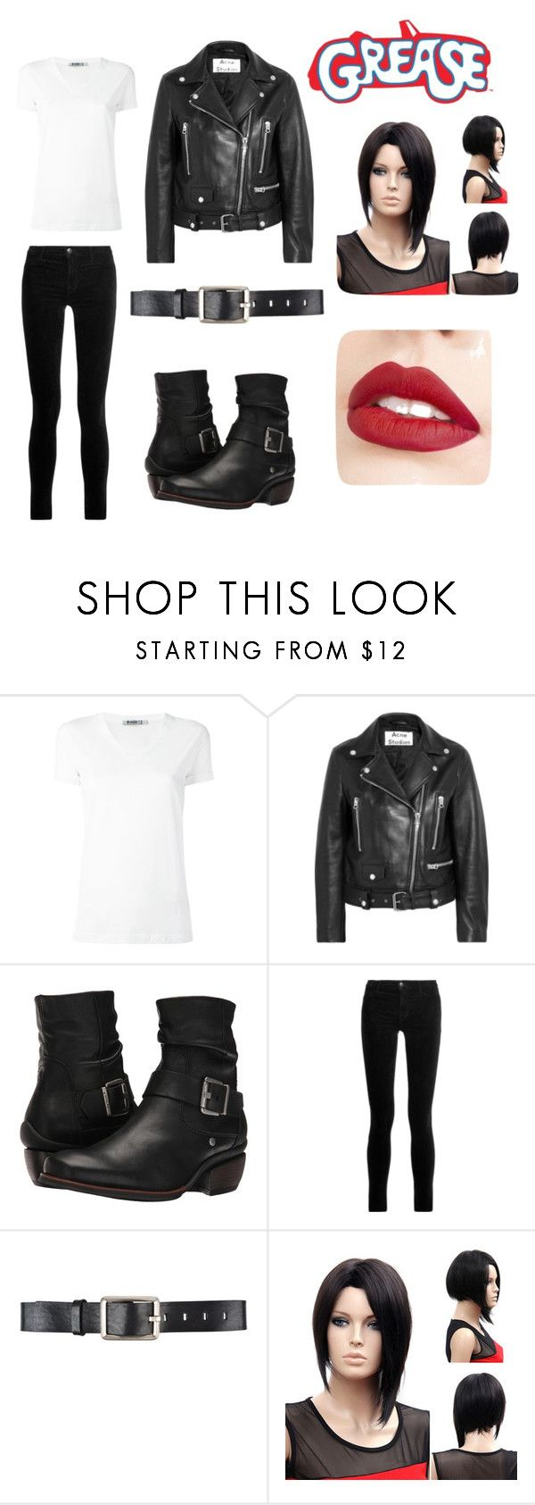 """Grease: Danny Zuko inspired"" by fallen-fairy on Polyvore featuring T By Alexander Wang, Acne Studios, Wolky, J Brand, Belstaff and Jouer"