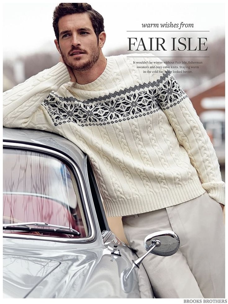 Brooks Brothers | Men's Fashion | Menswear | Fair Isle Sweater | Casual Outfit for Fall/Winter | Moda Masculina | Shop at designercolthingfans.com