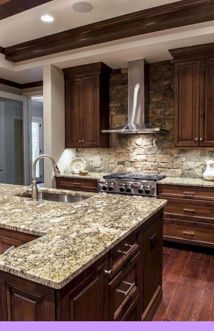 Dark Light Wood Oak Maple Cherry Furniture And Wooden Kitchen Furniture Vs Th In 2020 Granite Countertops Kitchen Brown Kitchen Cabinets Dark Wood Kitchen Cabinets