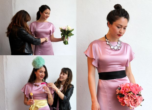 How to style one wedding outfit three ways with clever use of accessories