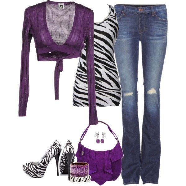 Purple Wrap Around Top With Zebra Tank And Heels Wraps Polyvore And Clothes