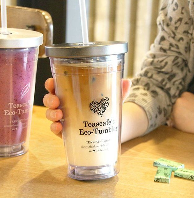 Fancy   Luxury premium metal lid cold cup (gift 1 straw)