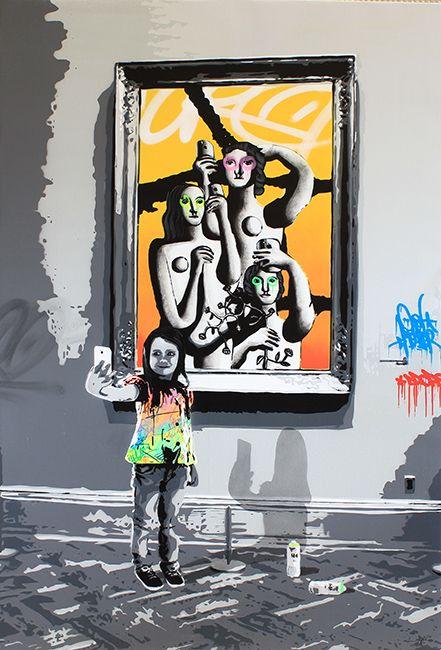 """KURAR street artist artwork named """" SOCIAL DISTORSION """" more details on ; kurar.fr/#home"""