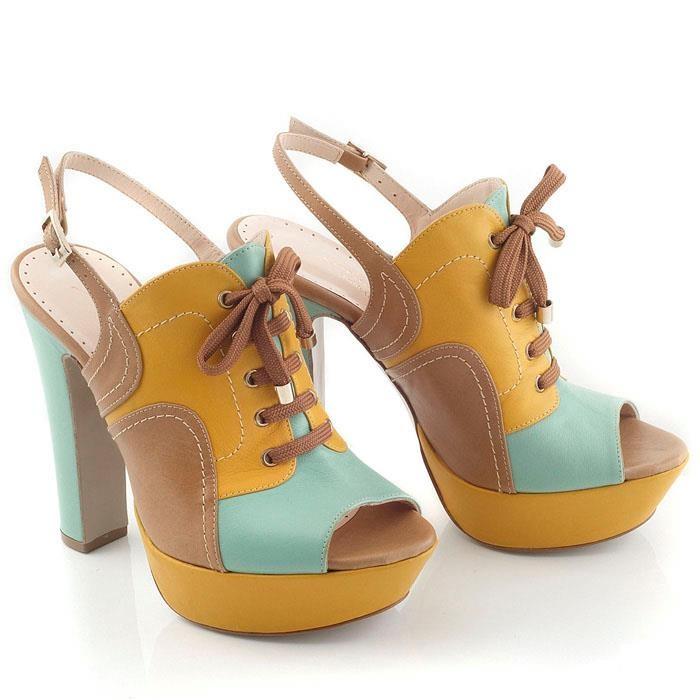 Chaniotakis | High heel, Sunglow-Green-Taba Nappa