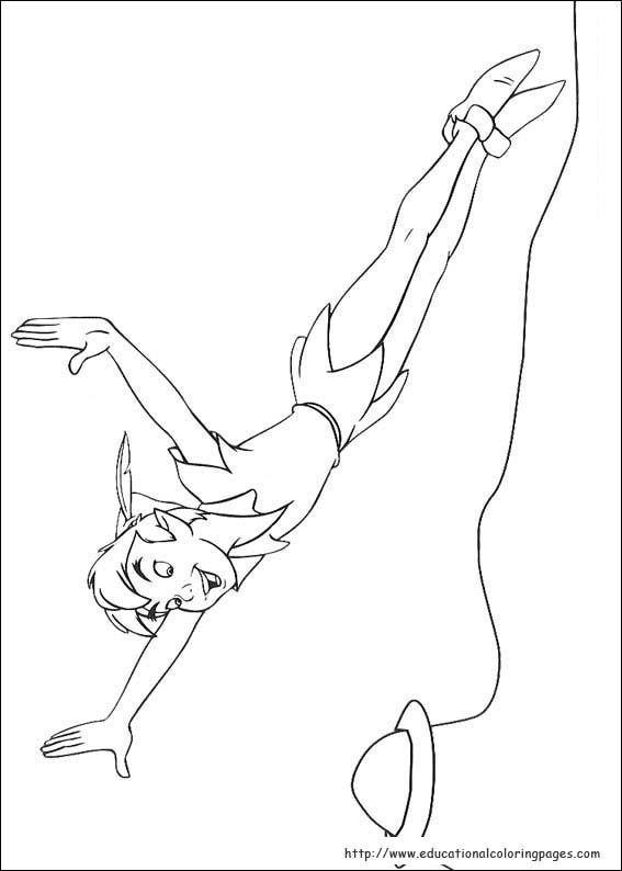 peter pan mermaid coloring pages - photo#45