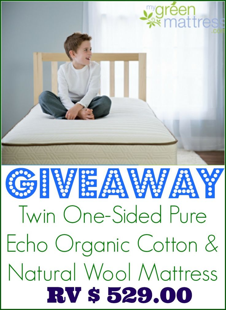 enter to win a twin onesided pure echo organic cotton and natural wool mattress