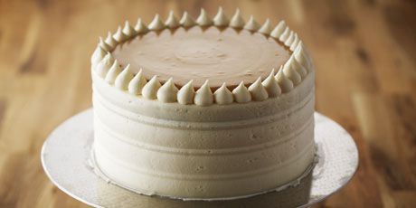 Bake With Anna Olson;  Classic Vanilla Birthday Cake with Caramel Pastry Cream  This cake was allot of work but my son loved it.  He had requested for his birthday after seeing it on TV