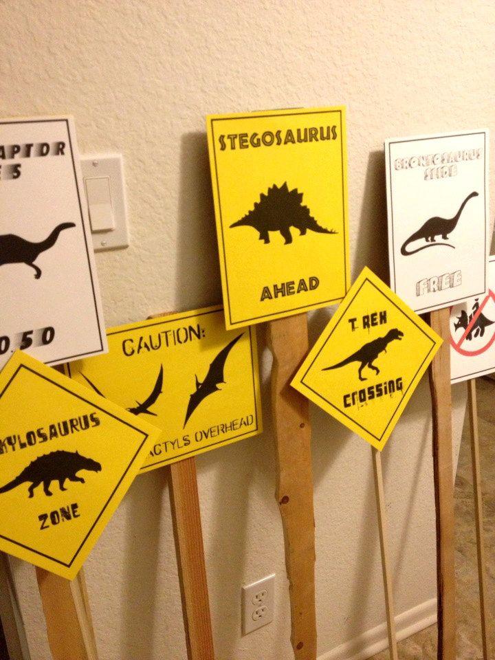 PDF Set of 7 Dinosaur Crossing Signs  Dinosaur by luminousmoon, $12.00