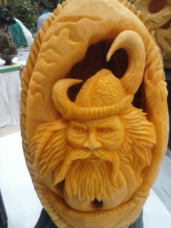 Melon Carving - Viking