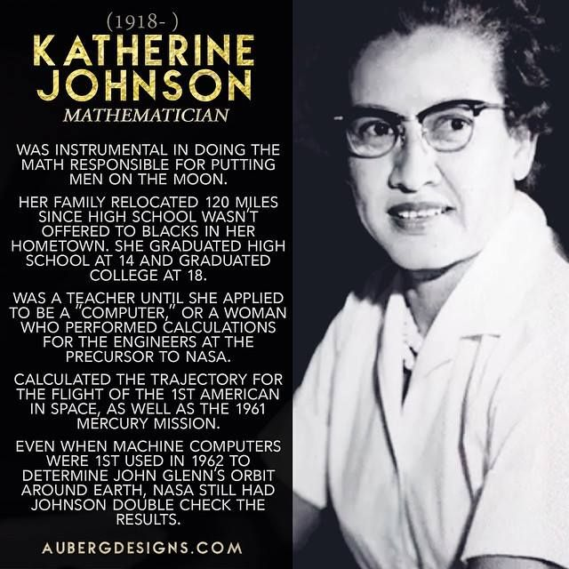 Before Kathryn Johnson became a Physicist & Mathematician responsible for putting men on the moon, she was a teacher and Stay At Home Mom. Later, she applied to NASA to calculate trajectories for space flights.