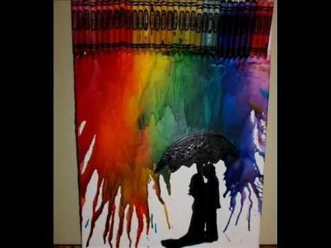 how to create crayon art