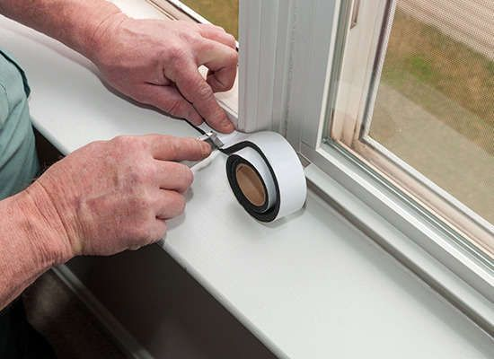 Windows and doors tend to be the weakest link in your sound defense. Weatherstrip all points where sashes meet jambs, headers, and sills. In addition, fill any tiny gaps around moldings with an acoustical caulk sealant.