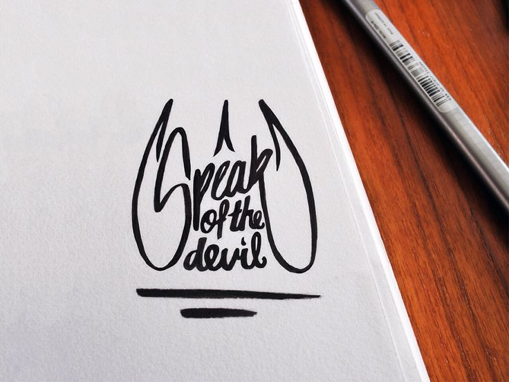 Speak of the devil. #devilish #typography #horny #font #speakofthedevil #type #hell #design #hewhomustnotbenamed