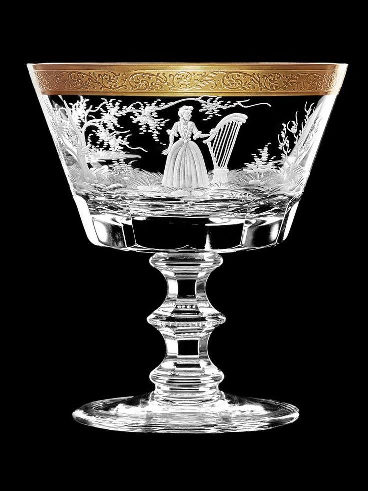 """Бокал для шампанского """"Девушка с арфой"""""""