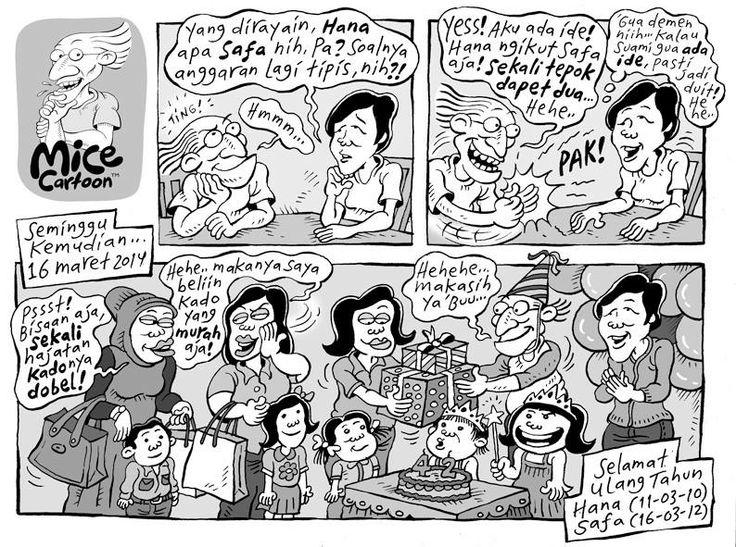 Mice Cartoon: Kompas 16 Maret 2014 - Selamat Ulang Tahun