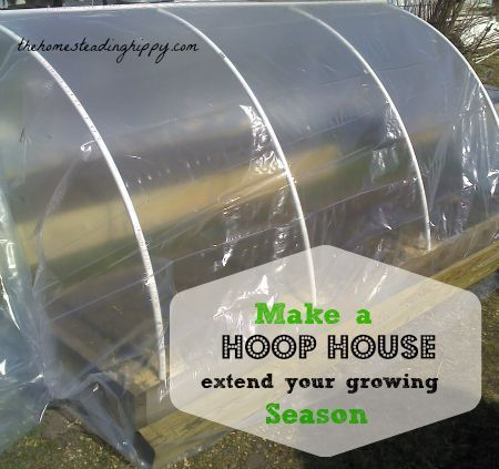 how to build a hoop house for raised beds