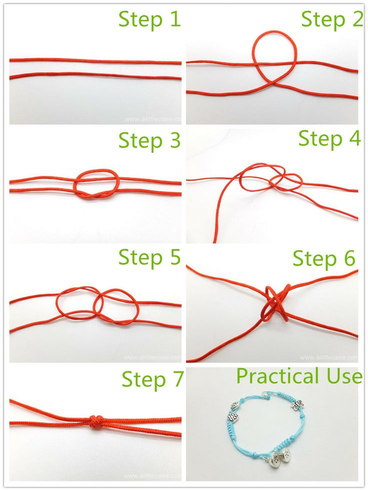 The Basic Decorative Knot For Bracelet Making Double