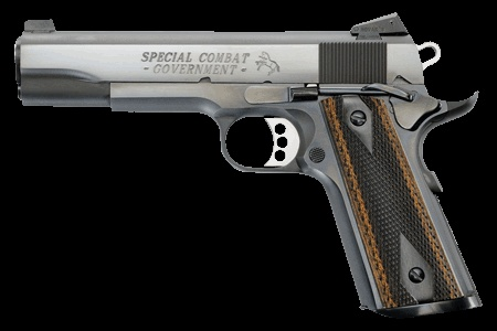Favorite Guns = Would put one of these in every room of my home & every Car if I could afford it !  Colt .45 Cal Special Combat Government - The Colt M1911 pistol has been a favorite for 100 years as a service pistol, a law enforcement pistol and a personal defense firearm. Although the pistol is virtually unchanged since its adoption by the U.S. military, Colt has continued to make the best even better.