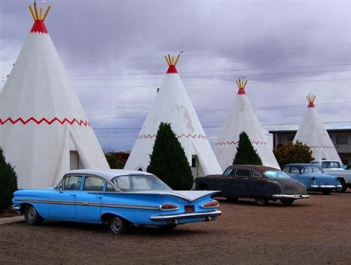 route 66 wigwam motel  wasn't quite in this good a shape when we went thru  wish i could have seen it