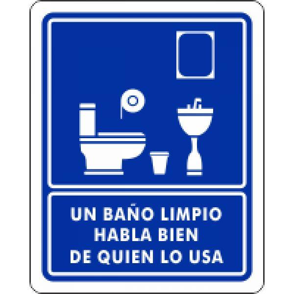 Un ba o limpio habla bien de quien lo usa viniles en for Como mantener un estanque limpio