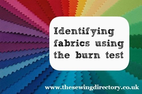 How to indentify fabrics - Fabric burn test