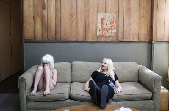 maddie ziegler behind the scenes of sias music video