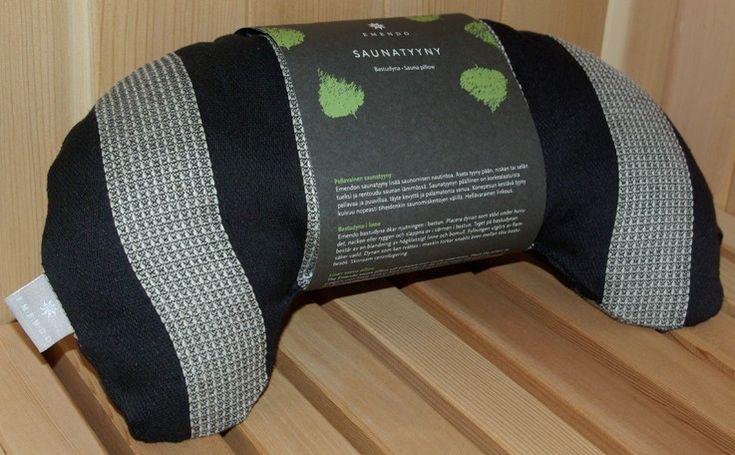 Sauna Pillow - Curved, 7.5x14 Striped   #saunas.com