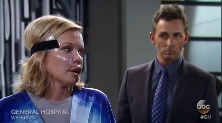 Thursday's August 4 episode of General Hospital begins with Laura (Genie Francis) telling Kevin (Jon Lindstrom) that Spencer (Nicolas Bechtel) is still concentrating on avenging his father's death. Affiliate links included below. Thanks for your support!     Valentin (James Patrick Stuart) is