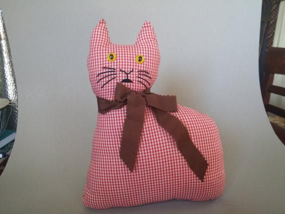 Lost on 24 Feb. 2016 @ Willow lane Gedling Nottingham Ng4. Please help ???? Lost Handmade red & white gingham soft toy cat Similar to one in photo but mine has a long tail and felt facial features . Also wears a felt tie Given to the charity in Nottingham ... Visit: https://whiteboomerang.com/lostteddy/msg/998iuz (Posted by Wendy on 24 Feb. 2016)