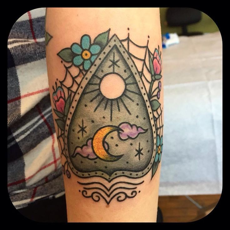 Ouija Tattoo by Jennifer Trok @jennifertroktattoos #ouijatattoo #ouija…