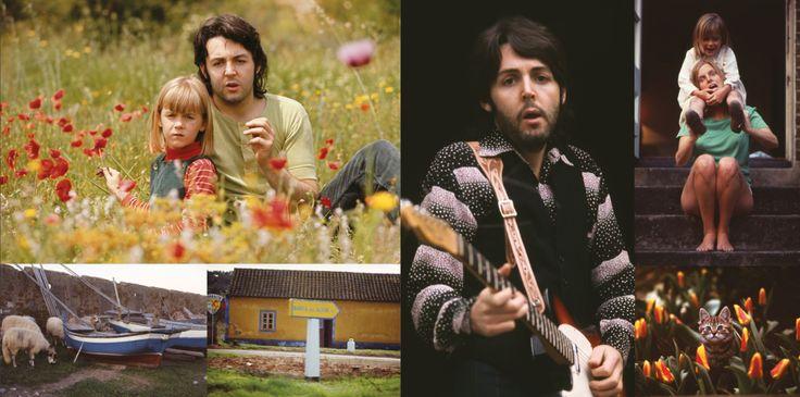 Paul, Linda and Heather McCartney circa 1970.