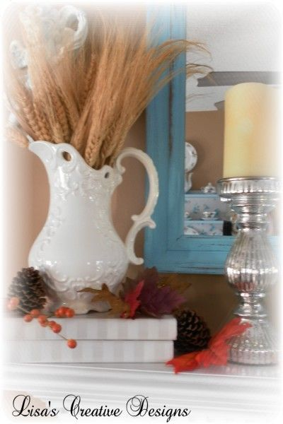 Decorating A Thanksgiving Mantle and Giving Thanks