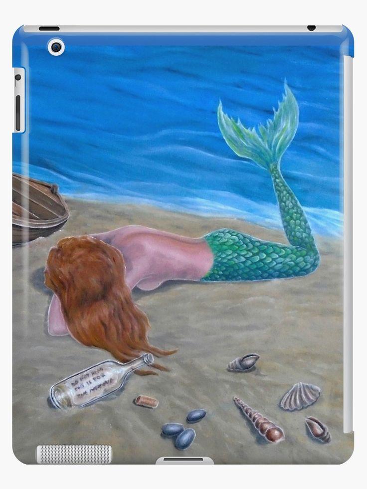 iPad Case/Skin,  mermaid,aqua,blue,colorful,fantasy,unique,cool,fancy,beautiful,trendy,artistic,unusual,accessories,ideas,design,items,products,for sale,redbubble