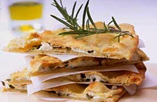Pan ácimo italiano con queso y hierbas - Receta Petitchef