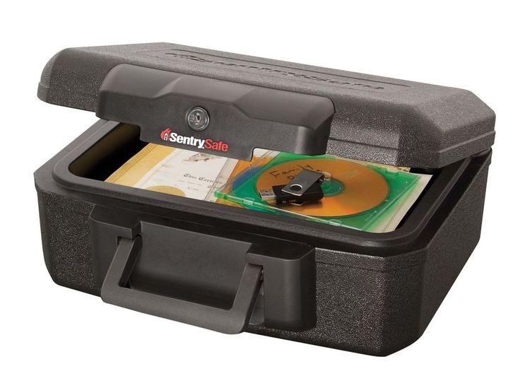 Fireproof safe sentrysafe security box jewelry chest key